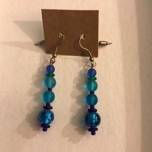 Jewelry - Blue Glass Earrings